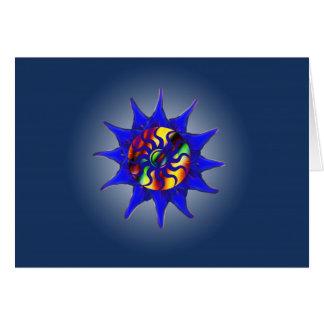 Abstrakte Glühen-Winter-Sonnenwende-Karte Grußkarte