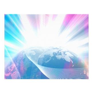 Abstrakte glühende Erdillustration 21,6 X 27,9 Cm Flyer