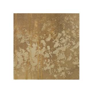 Abstrakte Goldmalerei mit silbernen Tupfen Holzleinwand