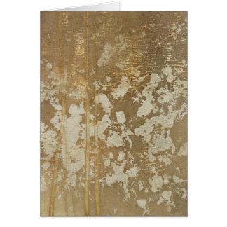 Abstrakte Goldmalerei mit silbernen Tupfen Karte