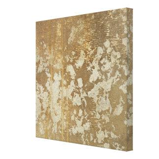 Abstrakte Goldmalerei mit silbernen Tupfen Leinwanddruck