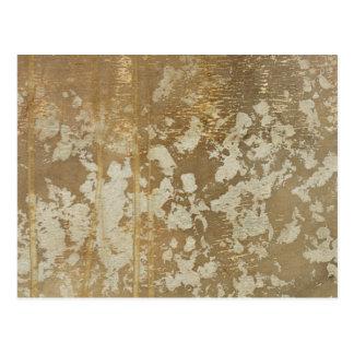 Abstrakte Goldmalerei mit silbernen Tupfen Postkarte