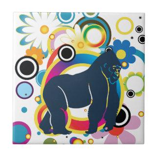 Abstrakte Gorilla-Keramik-Fliese Fliese