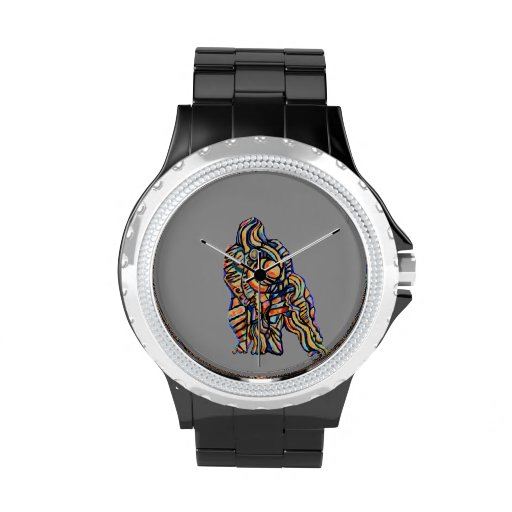 Abstrakte Gorilla-Uhr