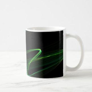 Abstrakte Grafik des Malachitblickes Kaffeetasse