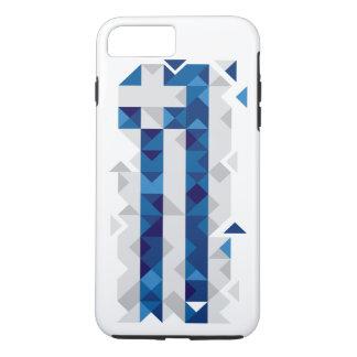 Abstrakte Griechenland-Flagge, griechischer iPhone 8 Plus/7 Plus Hülle