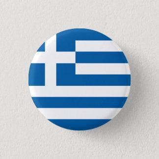 Abstrakte Griechenland-Flagge, griechischer Runder Button 3,2 Cm