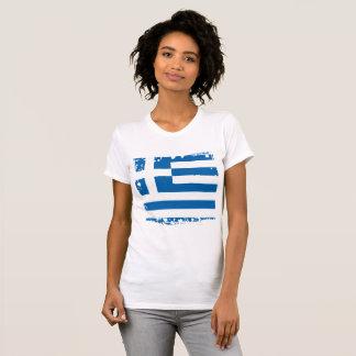 Abstrakte Griechenland-Flagge, griechisches T-Shirt