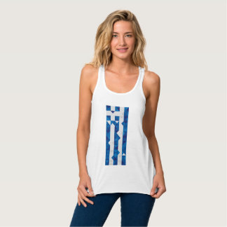 Abstrakte Griechenland-Flagge, griechisches Tank Top