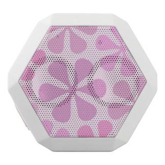 Abstrakte große Blumen-Rosa Weiße Bluetooth Lautsprecher