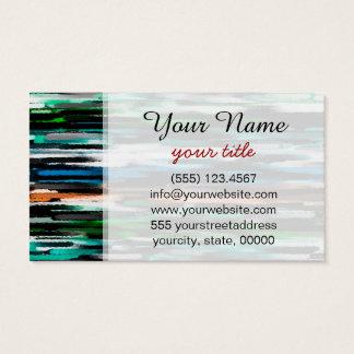 Abstrakte grün-blaue Töne Pastell Visitenkarte