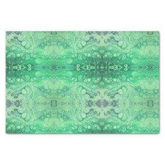 Abstrakte grüne Juwelton kaliedoscope Blasen Seidenpapier