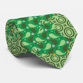 abstrakte grüne Muster-Krawatte Krawatten