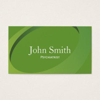 Abstrakte grüne Psychiater-Geschäfts-Karte Visitenkarte