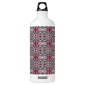 Abstrakte Hand gezeichnetes buntes Muster Wasserflasche