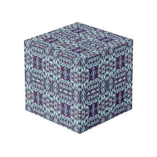 Abstrakte Hand gezeichnetes Muster. Blaue Farbe Würfel