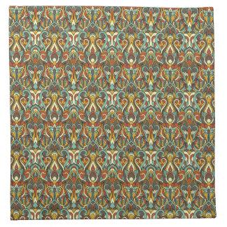 Abstrakte Hand gezeichnetes Muster. Retro Farbe Stoffserviette
