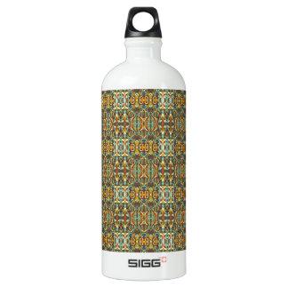 Abstrakte Hand gezeichnetes Muster. Retro Farbe Wasserflasche