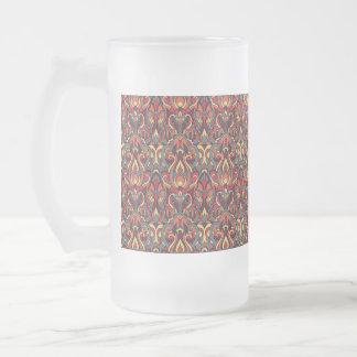 Abstrakte Hand gezeichnetes Muster. Retro Farben Mattglas Bierglas