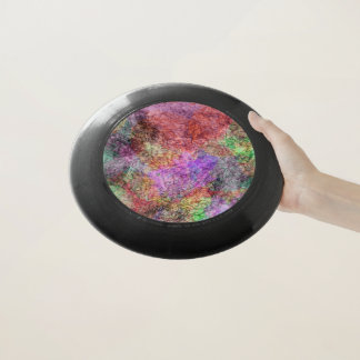 Abstrakte Hauche der nebelhaften Farben wirbelten Wham-O Frisbee