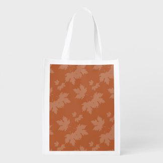 Abstrakte Herbst-Muster Wiederverwendbare Einkaufstasche