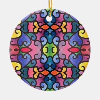 Abstrakte Herz-Malerei Keramik Ornament