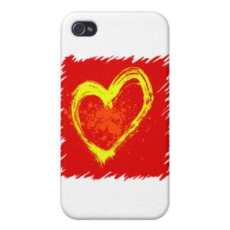 Abstrakte Herz-Tätowierung Etui Fürs iPhone 4