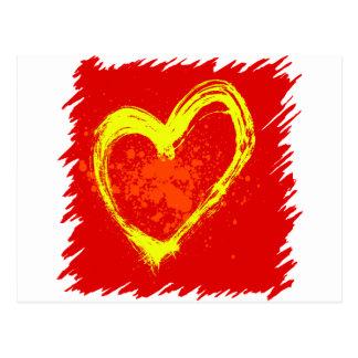 Abstrakte Herz-Tätowierung Postkarte