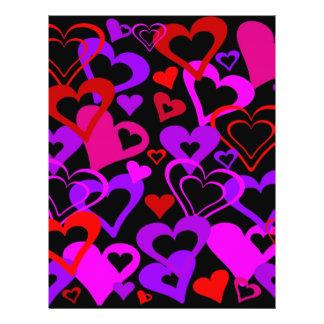 Abstrakte Herzen Flyerbedruckung