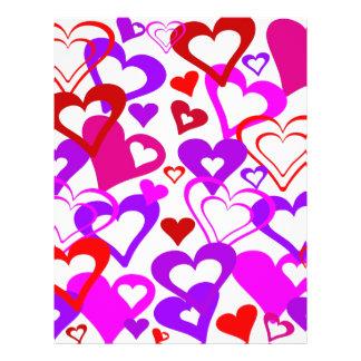 Abstrakte Herzen Flyer