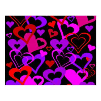 Abstrakte Herzen Postkarte