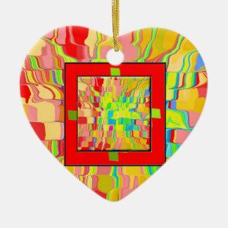 Abstrakte Hintergrund-Verzierung Keramik Herz-Ornament