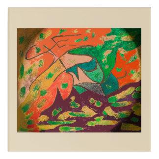 Abstrakte Illustration DAI cp6 Digital Acryl Wandkunst
