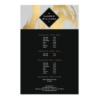 Abstrakte Imitat-GoldfolieBrushstrokes auf Grau 14 X 21,6 Cm Flyer