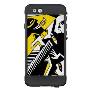Abstrakte Jazz-Kunst, schwarzer beweglicher Kasten LifeProof NÜÜD iPhone 6 Hülle