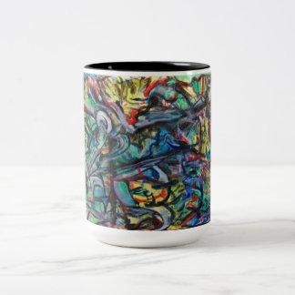 Abstrakte Kaffee-oder Tee-Tasse durch ValAries Zweifarbige Tasse