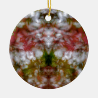 Abstrakte Kaleidoskopzahl und -gesichter Keramik Ornament