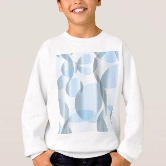 Abstrakte kalte blaue Kreise Sweatshirt