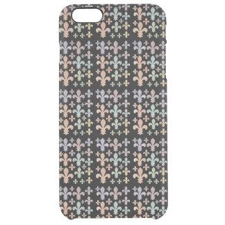 Abstrakte karierte Regenbogenwatercolor-Lilie Durchsichtige iPhone 6 Plus Hülle