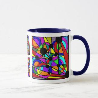 Abstrakte Keramik-Tasse Tasse