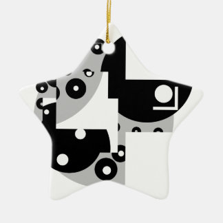 Abstrakte Kreise Keramik Ornament