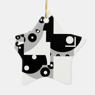 Abstrakte Kreise Keramik Stern-Ornament