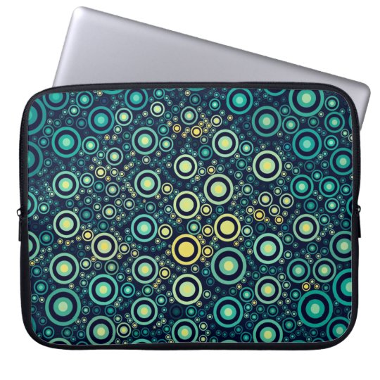 Abstrakte Kreise Laptopschutzhülle