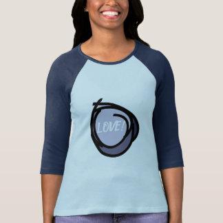 Abstrakte Kreise mit schwarze Grenzeblauer Text T-Shirt
