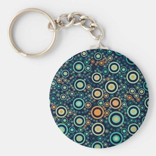 Abstrakte Kreise Standard Runder Schlüsselanhänger