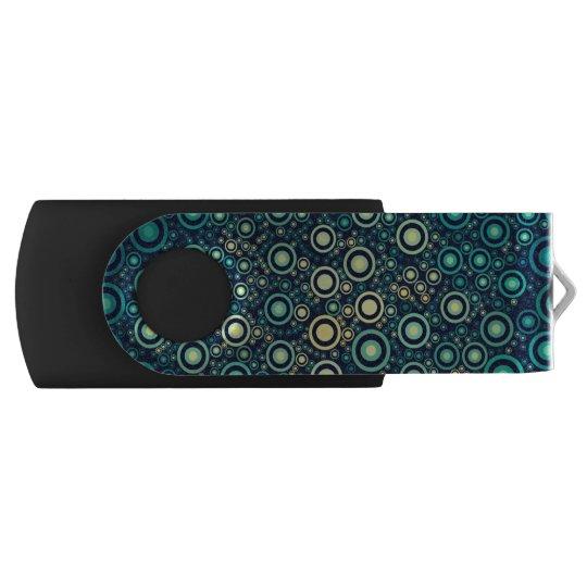 Abstrakte Kreise Swivel USB Stick 2.0