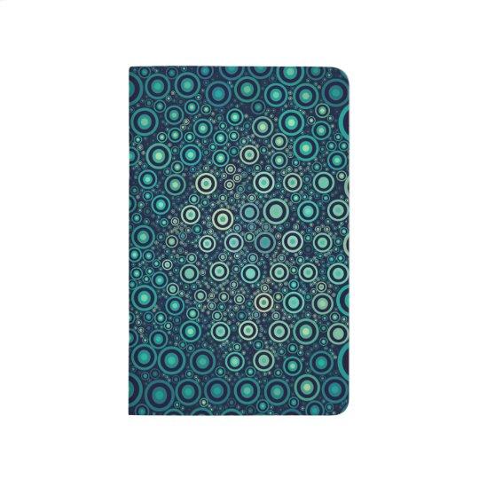 Abstrakte Kreise Taschennotizbuch