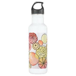 Abstrakte Kreiseworkout-Turnhallen-Reise-Flasche Edelstahlflasche