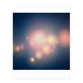 Abstrakte Kristall-große Bälle des Lichtes Postkarte