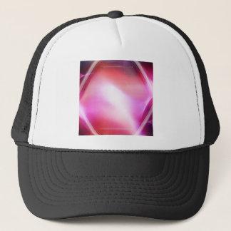 Abstrakte Kristall-rosa Diamant Truckerkappe
